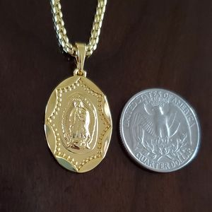 18K Gold Filled Guadalupe/Virgin Mary Necklace